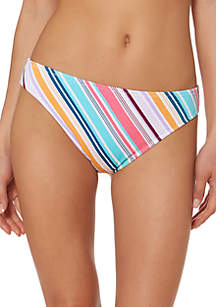 Jessica Simpson Candy Crush Back Shirred Swim Hipster