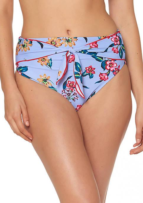 Jessica Simpson Garden Girl High Waist Tie Swim