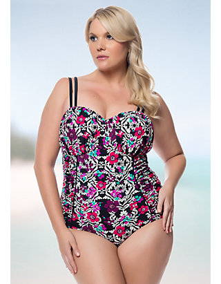 8ec284c1612 Jessica Simpson Plus Size It Girl Shirred U-wire Double Strap One ...