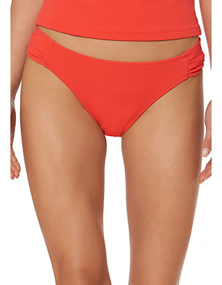 3fdc344b5d6e Jessica Simpson. Jessica Simpson Monet Texture Shirred Side Swim Hipster  Bottoms