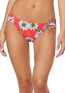Jessica Simpson Side Shirred Hipster Swim Bottoms