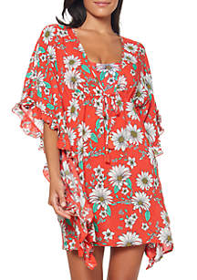 cb4de317e34 ... Jessica Simpson Oopsy Daisy Frill Side Swim Cover Up