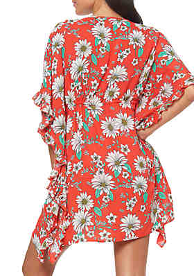 c3be240dab ... Jessica Simpson Oopsy Daisy Frill Side Swim Cover Up