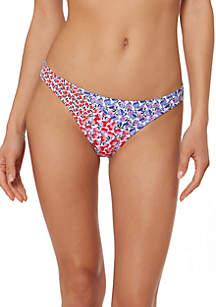 Jessica Simpson Pretty Peony Paneled Hipster Swim Bottoms