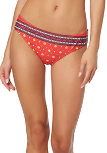 Jessica Simpson Back Shirred Hipster Swim Bottoms