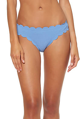Scalloped Edge Hipster Swim Bottoms