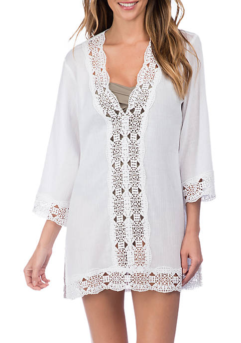 La Blanca Island Fare V-Neck Swim Tunic