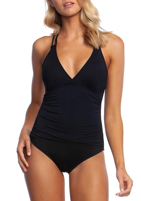 La Blanca Island Goddess Surplice One Piece Swimsuit