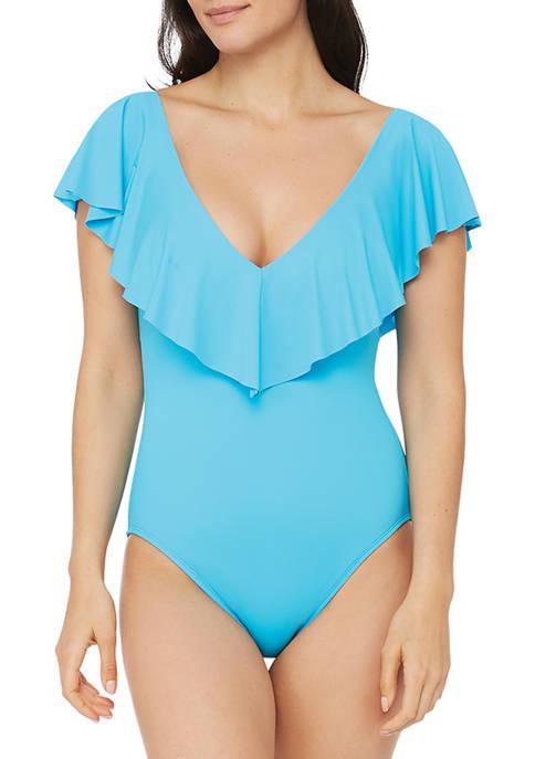 Island Goddess Ruffle One-Piece Swimsuit