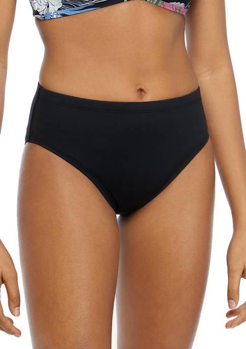 Island Goddess Mid Waist Hipster Swim Bottoms