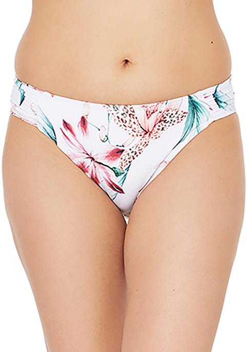 La Blanca Flyaway Orchid Side Shirred Hipster Swim