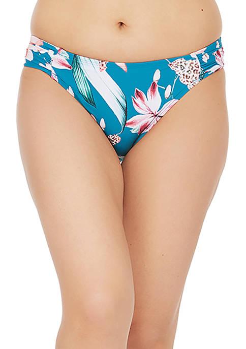 Flyaway Orchid Side Shirred Hipster Swim Bottoms