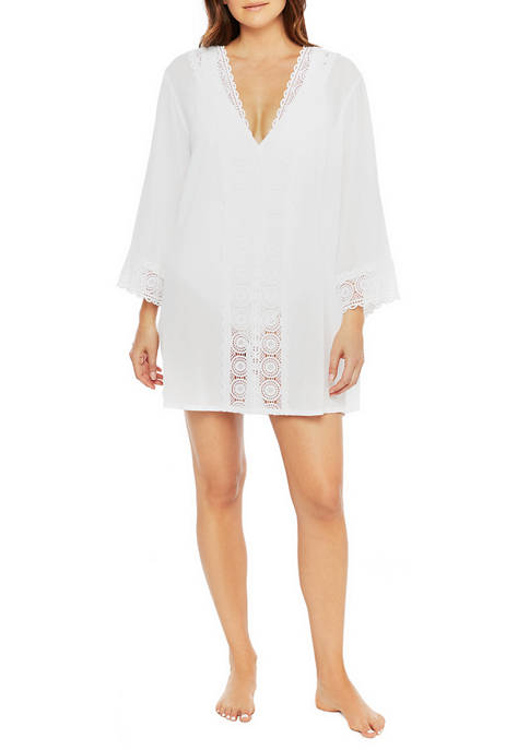 La Blanca Island Fare V Neck Tunic Swim