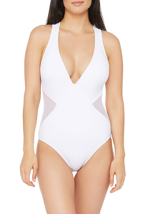Mesh-merizing Strappy Halter One-Piece Swimsuit