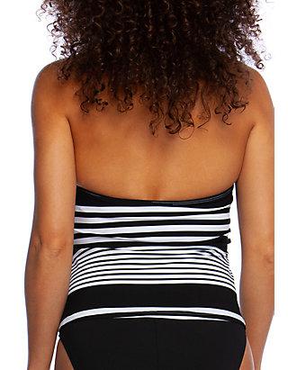 9b8a2e0b93 La Blanca. La Blanca Swim Fine Line Mitered Stripe Halter Tankini