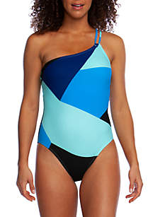 La Blanca Sips and Slices One Shoulder One Piece Swimsuit