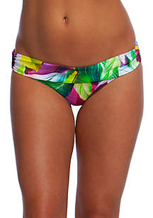 La Blanca Swim Tropic of the Day Shirred Band Hipster Bottoms