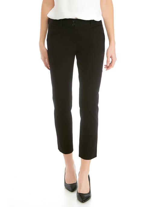 Womens Slim Straight Pants - Short