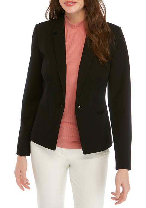 Womens One Button Blazer