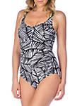 Mio Palm One Piece Swimsuit