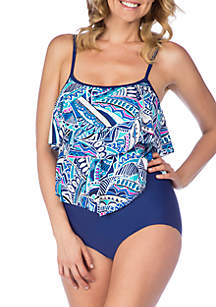 Maxine of Hollywood Island Days Double Tier One Piece Swimsuit