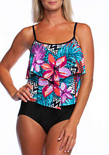 db30a0d729 ... Maxine of Hollywood Serengeti Double Ruffle 1 Piece Swim Suit