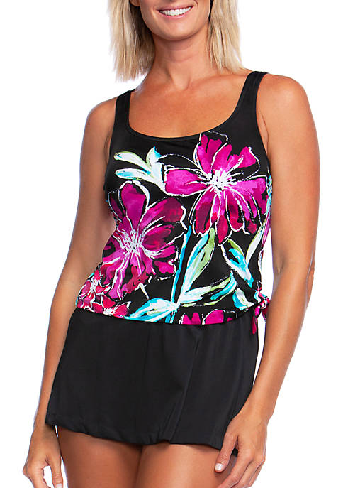 Maxine of Hollywood In Full Bloom Faux Skirtini