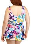Plus Size Garden Party Swim Dress