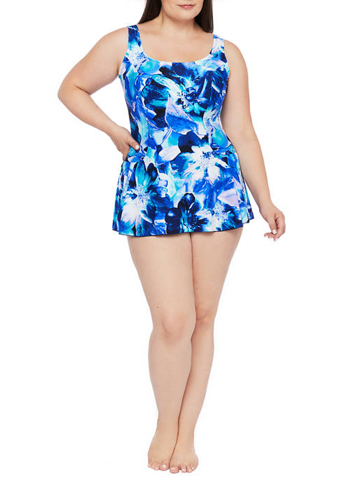 Maxine of Hollywood Plus Size Mystique Swim Dress