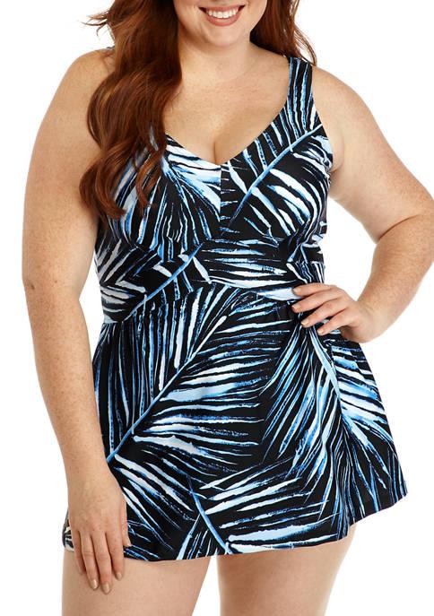 Maxine of Hollywood Plus Size Moonlight Swim Dress