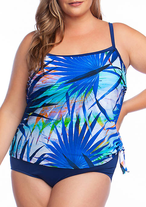 Maxine of Hollywood Plus Size Palm Party Faux