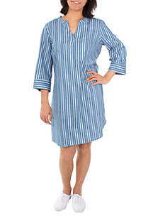 Kim Rogers® Printed Chambray Dress