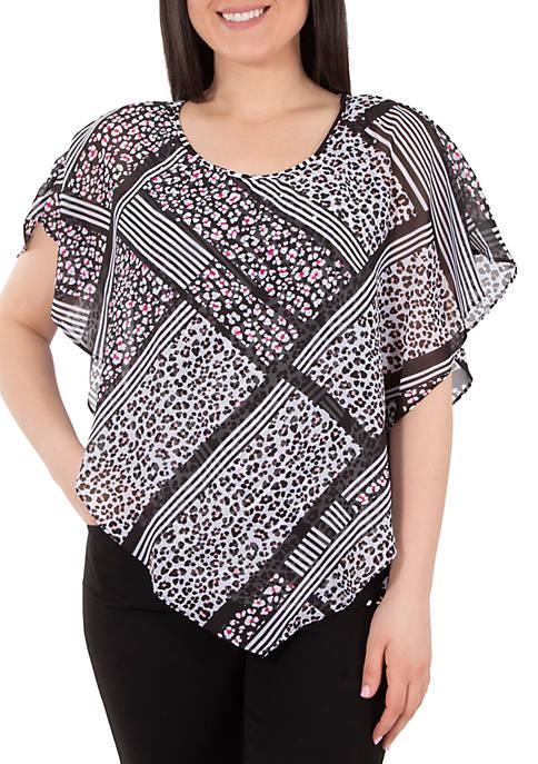 Kim Rogers® Plus Size Heat Set Poncho