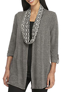 3Fer Top with Scarf