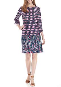 Angled Sleeve Dress