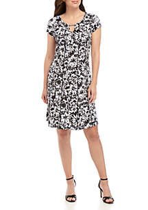 Kim Rogers® Seamed Floral Dress