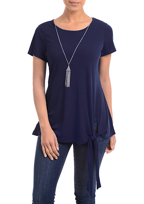 Kim Rogers® Side Tie Necklace Top