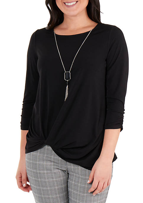 Kim Rogers® Side Knot Necklace Top