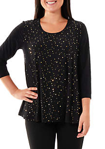 Jacquard Disco Dot Swing Top