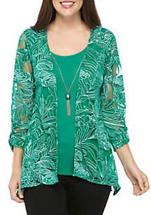Kim Rogers® Palm Leaf Burnout 2Fer