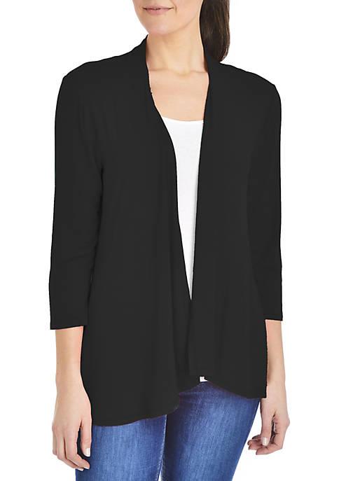 Kim Rogers® 3/4 Sleeve Knit Cardigan