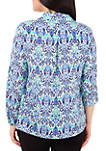 Printed Window Pane Utility Top