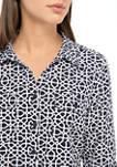 Womens Lattice Print Utility Shirt