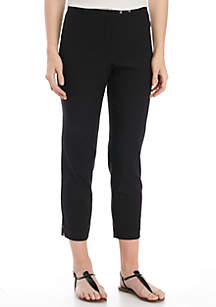 Super Stretch Double Snap Thin Crop Pants