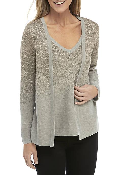 Lurex 2Fer Sweater