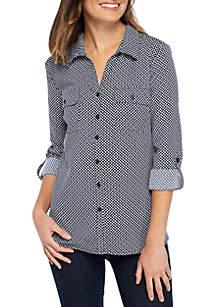 Three-Quarter Sleeve Y-neck Utility Shirt
