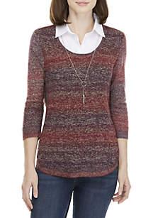 Marled 2Fer Sweater