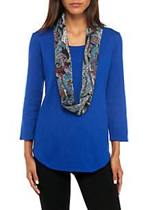 Fine Gauge Scarf Sweater