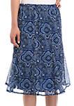 Godet Chiffon Skirt