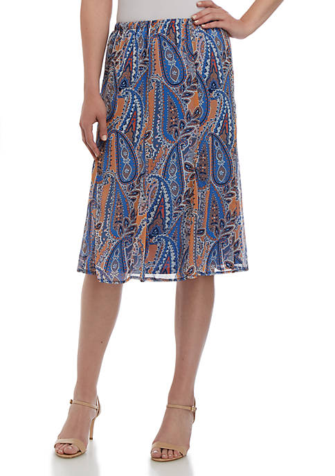 Kim Rogers® Godet Chiffon Skirt